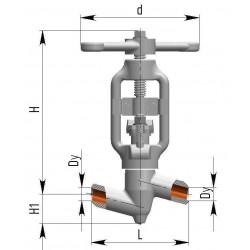 Клапана запорные 1с-11-1 Ду10