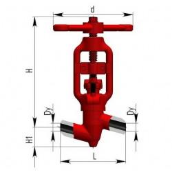 Клапана запорные 588-10-0 Ду10