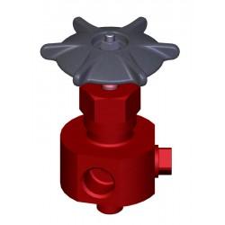 Клапан (вентиль) трехходовой для манометра 1093-10-0 Ду10 Ру137