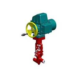 Клапан игольчатый 1195-50-Э Ду50 с электроприводом