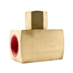 Клапан обратный плунжерный муфтовый латунный VYC179-01 Ду 8