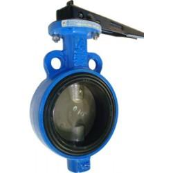 Затвор поворотный дисковый чугунный FAF3500 Ду 40 с рукояткой уплотнение EPDM