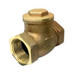 Клапан обратный поворотный муфтовый 19Б4нж Ду15