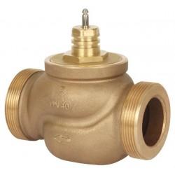 Клапан регулирующий латунный резьбовой VRB2 Ду 15 под электропривод