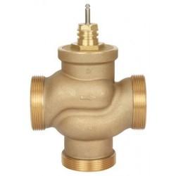 Клапан регулирующий трехходовой латунный резьбовой VRB3 Ду 15 под электропривод