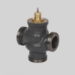 Клапан регулирующий трехходовой чугунный резьбовой VRG3 Ду 15 под электропривод