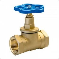 Клапан запорный (вентиль) латунный муфтовый 15Б3р Ду15