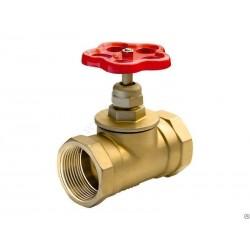 Клапан запорный (вентиль) латунный муфтовый 15Б1п Ду15