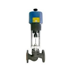 Клапан регулирующий чугунный фланцевый ГРАНРЕГ КМ125Ф Ду 15 с электроприводом PSL201A-24